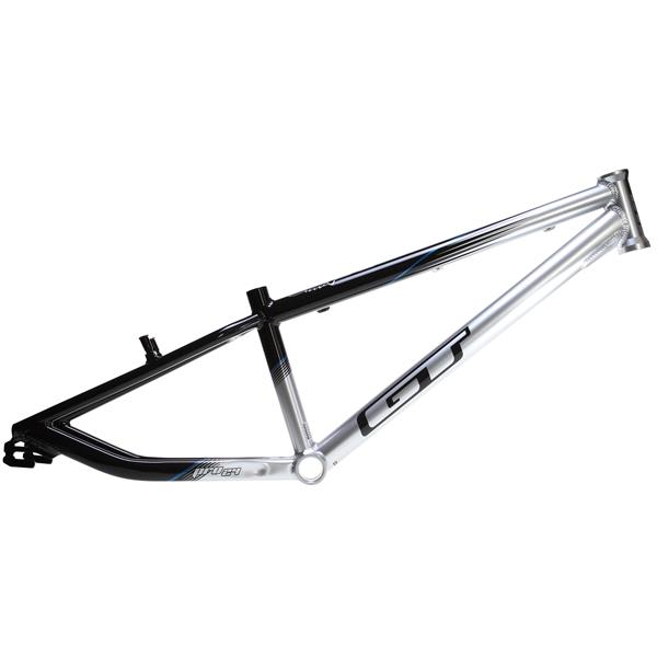 gt pro series pro 24 bmx frame blacksilver 2175in top tube