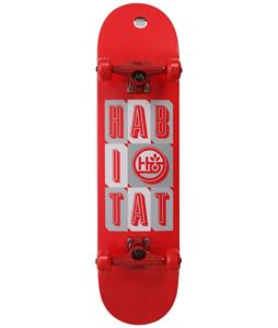 Habitat Headline Stacked SM Skateboard Complete Red 7.75in