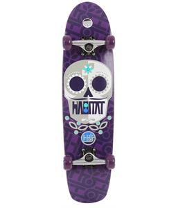Habitat Sugar Skull Longboard Skateboard Complete Purple