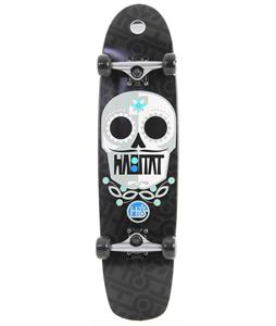 Habitat Sugar Skull Longboard Skateboard Complete Black