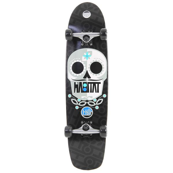 Habitat Sugar Skull Longboard Skateboard Complete