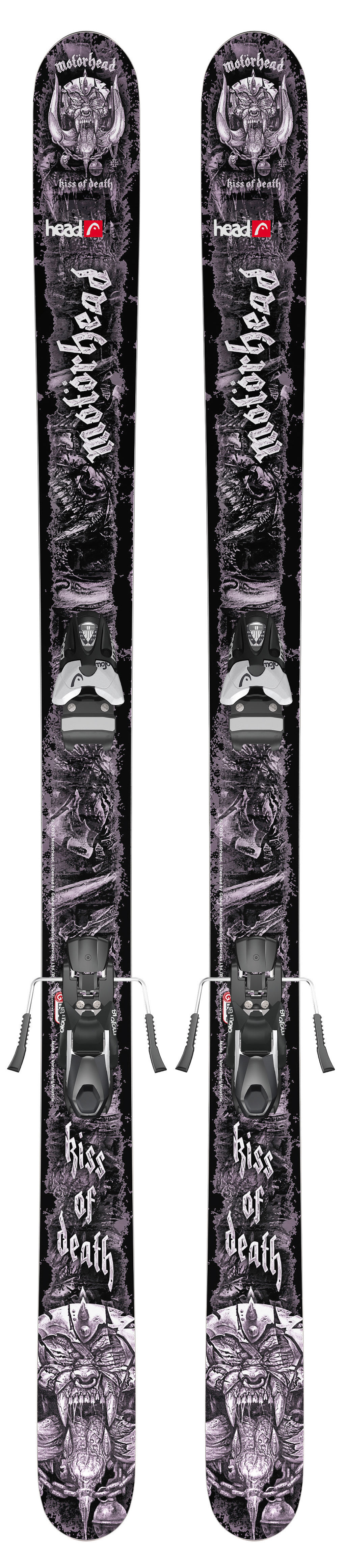Head Kiss Of Death 110 Skis w/ Mojo 12 Bindings Matte Black/Silver 115mm - Men's