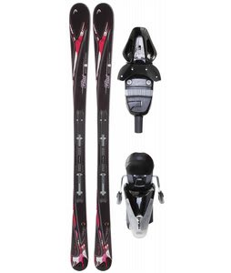 Head Mya No. 2 Skis w/ Mya 9 Lrx Bindings Black Glossy