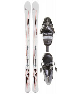 Head Mya No. 2 Skis White w/ Mya LR Bindings Glitter Black