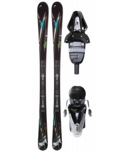 Head Mya No. 3 Skis w/ Mya 9 Lrx Bindings Black Glossy