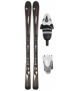 Head Mya No. 3 Skis Black w/ Mya LR Bindings Pearl White