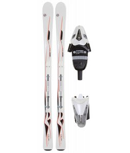 Head Mya No. 3 Skis White w/ Mya LR Bindings Pearl White