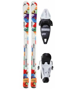 Head Pez Team Nd Skis w/ Lrx 7.5 Ac Bindings Solid White/Black