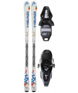 Head Rev 70 Skis w/ Pr 11 Bindings Black Glossy/Silver