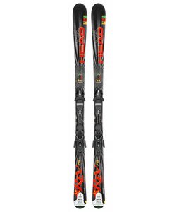 head rev 75 skis w pr 11 bindings black glossy silver. Black Bedroom Furniture Sets. Home Design Ideas