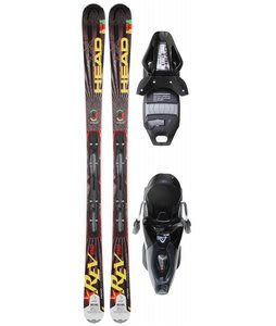 Head Rev 80 Skis w/ Pr 11 Bindings Black Glossy/Silver