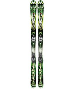 Head Rock'n Roll 94 Skis w/ Mojo 12 Wide Bindings Matte Black/Silver 97mm