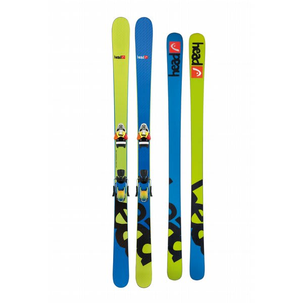 Head Twin 84 Skis Blueberry/Lime w/ Mojo 11 Wide Wh/Multi Bindings