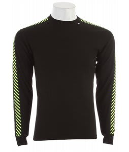 Helly Hansen Dry Stripe Crew Baselayer Top Black