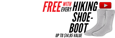 Free gear with Hiking Shoes - Boots