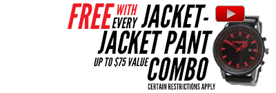 Free gear with Jacket & Pant Packages