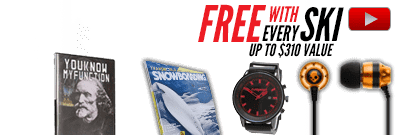 Free gear with Rocker Skis