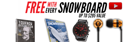 Free gear with Snowboard Packages