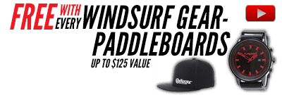 Free gear with Windsurfing Board Packages, All Brands