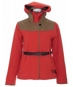 Holden Farren Snowboard Jacket Tomato Cardinal Red/Green