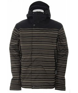 Holden Weston Stripe Snowboard Jacket Bark/Black