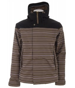 Holden Weston Stripe Snowboard Jacket Cinder/Olive