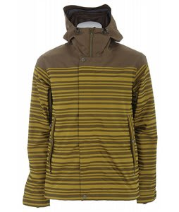 Holden Weston Stripe Snowboard Jacket Sunset/Olive