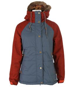 Holden Ash Down Snowboard Jacket Orion Blue/Tomato Orange