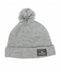 Holden Cuffed Pom Pom Beanie Heather Grey
