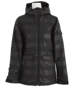 Holden Ella Insulated Snowboard Jacket Black Stripe