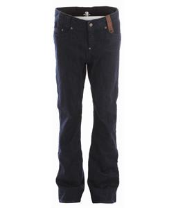Holden Genuine Denim Skinny Snowboard Pants Blue Raw