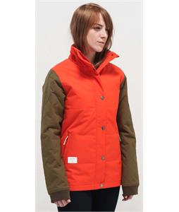 Holden Klara Snowboard Jacket Tomato Orange/Olive