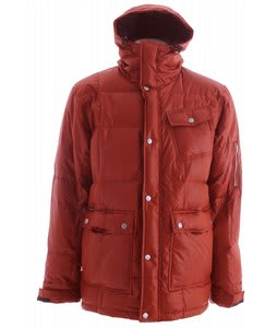 Holden Puffy Down Snowboard Jacket Burnt Henna