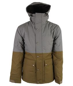 Holden Puffy Woods Snowboard Jacket Lt Grey/Olive