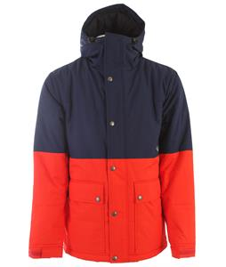 Holden Puffy Woods Snowboard Jacket Peacoat/Fiery Red