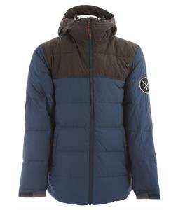 Holden Puffy Down Snowboard Jacket Thunderstorm Blue/Flint