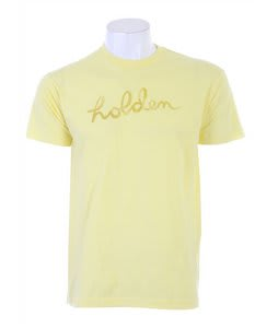 Holden Script Logo T-Shirt Lemon