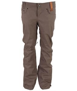 Holden Skinny Denim Snowboard Pants Grey Denim