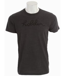 Holden This Shirt Helps Script T-Shirt Charcoal Grey