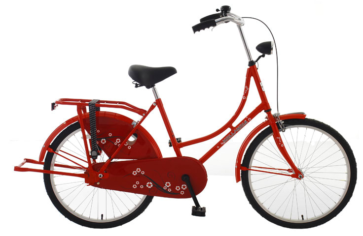"Hollandia New Oma 24 Bike Red 17"" Women's"