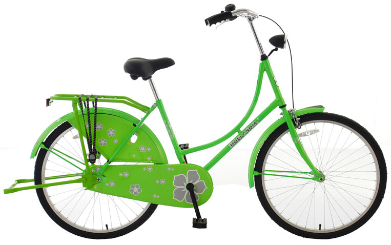"Hollandia New Oma 26 Bike Electric Green 18"" Women's"