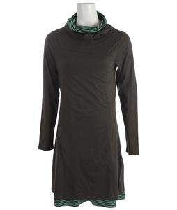 Horny Toad Layercake Dress Charcoal/Spearmint Stripe