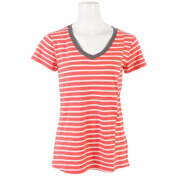Toad & Co Slubstripe Vee T-Shirt