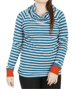 Horny Toad Stripe Out Boat Twist Shirt Moroccan Blue Stripe/Cayanne