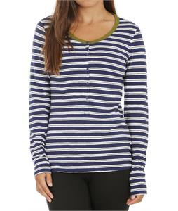 Horny Toad Stripe Out Henley Blue Velvet Stripe