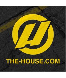House Slap Sticker Black/Yellow 3 x 3in