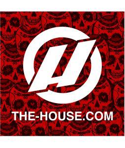 House Slap Sticker Red Skull 3 x 3in