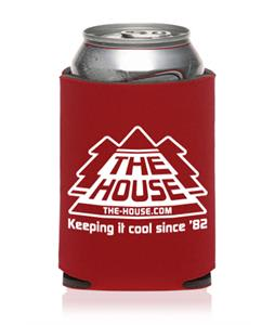 House Chillin Koozie Red