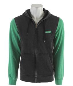 Hurley Burnout Zip Up Hoodie Black