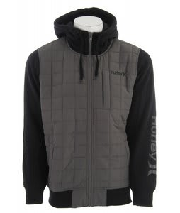 Hurley Dual Zip Hoodie Black